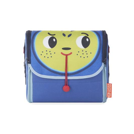 Niebieska torba na lunch dla dzieci Bill z przodu