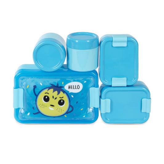 Niebieskie pojemniki na jedzenie Hello Bill