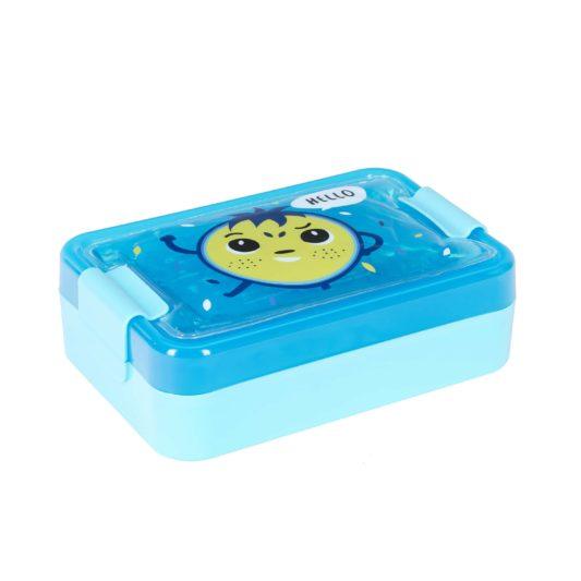 Niebieskie pojemniki na jedzenie z zelem bez BPA