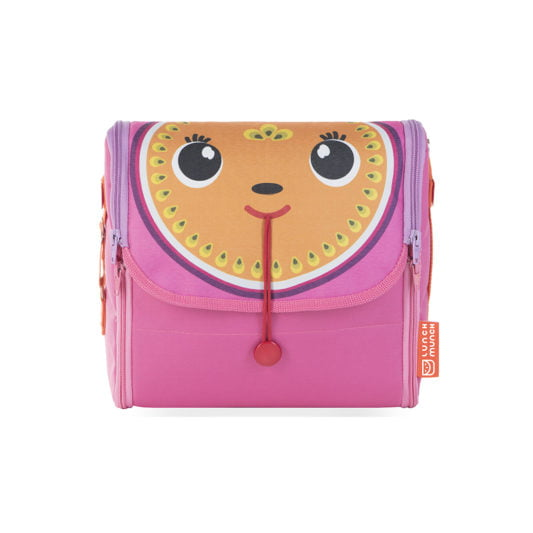 Różowa torba na lunch dla dzieci Penelope z przodu