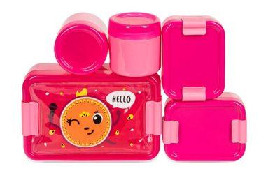 różowe pojemniki na jedzenie Hello Penelope