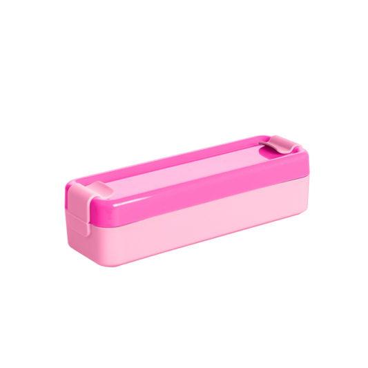 rozowy pojemnik na jedzenie lunchbox