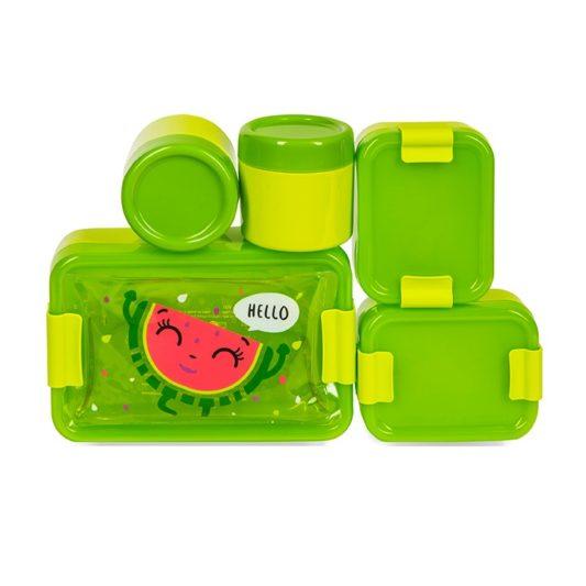 zielone pojemniki na jedzenie Hello Wendy