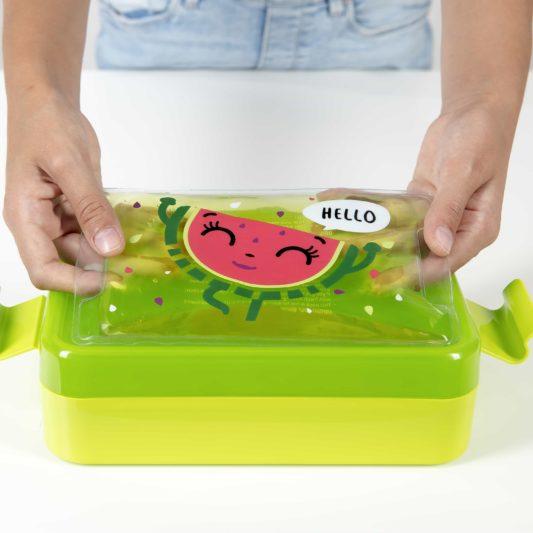 Zestaw lunch box Lou Wendy zielony pojemnik na jedzenie