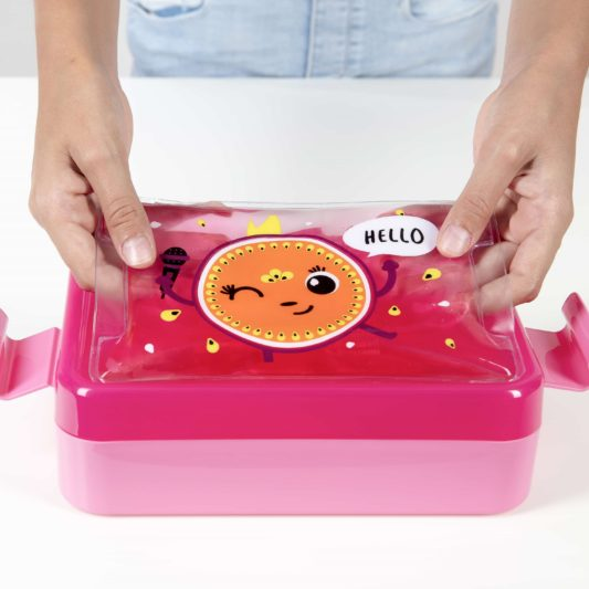 zestaw lunch box rozowy Penelope z zelem