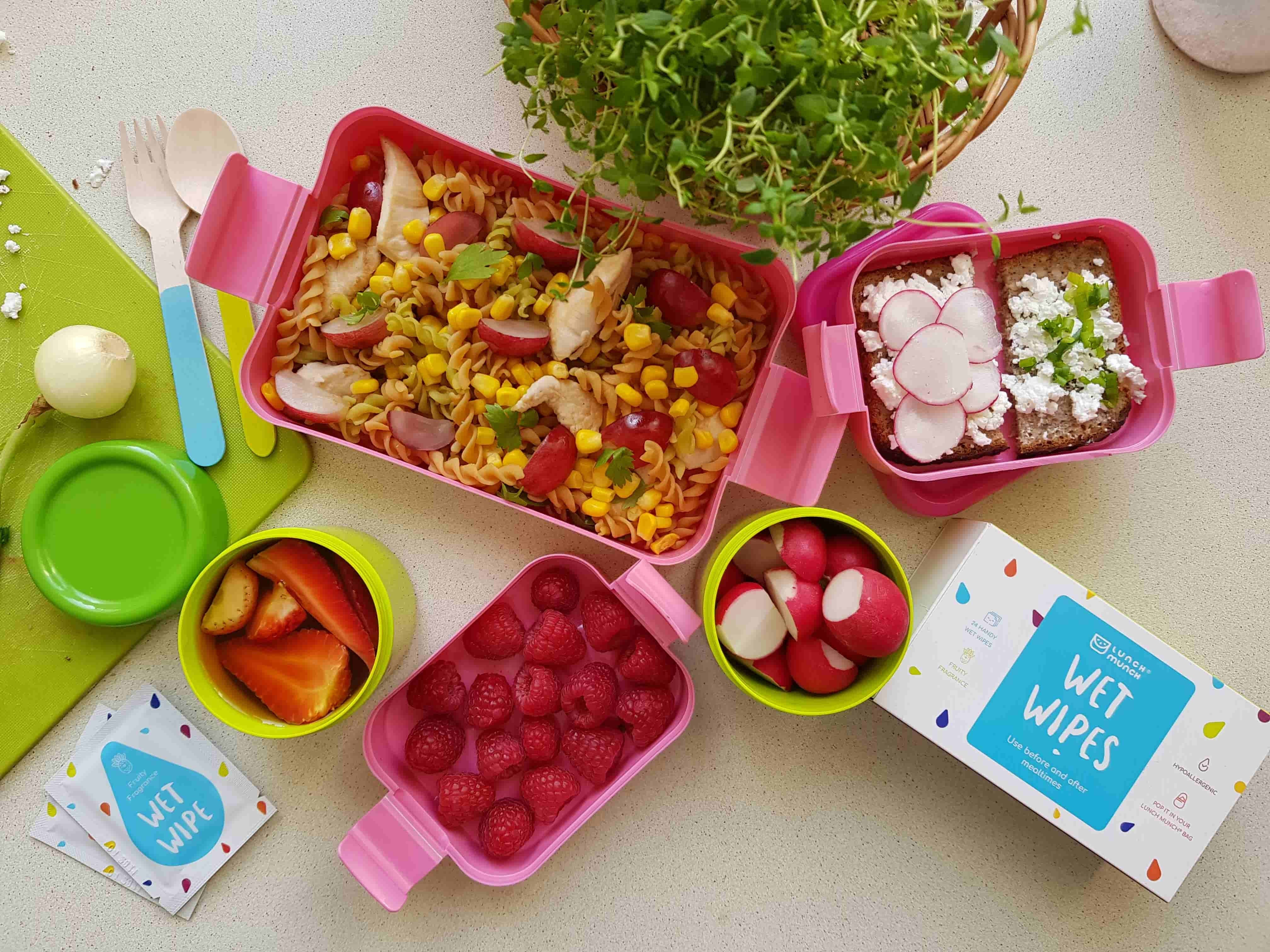 torba na lunch dla dziecka pojemniki na jedzenie