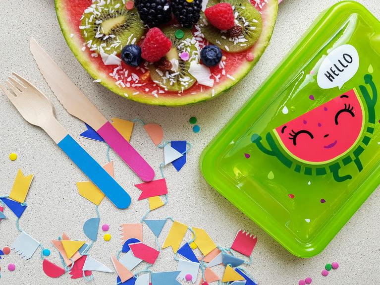 Zdrowe słodycze dla dzieci - arbuzowa pizza