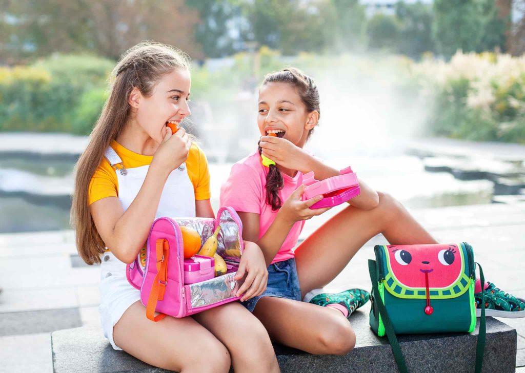 rozowy lunchbod do szkoly modny