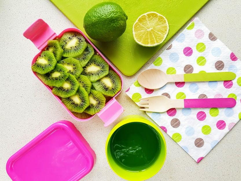 Zielone jedzenie - jaglanka z kiwi