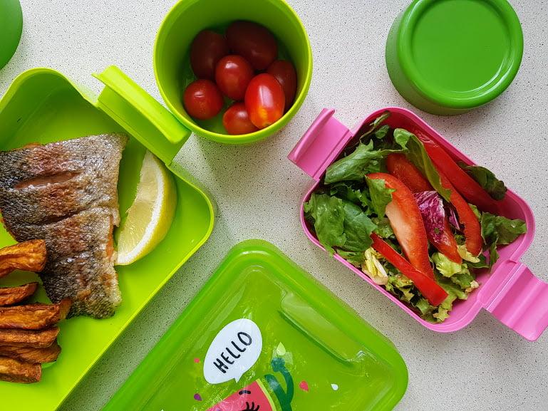 Filet z łososia przepis na zdrowy lunch box