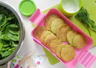 Przepis na szpinak dla dzieci - placki ze szpinakiem