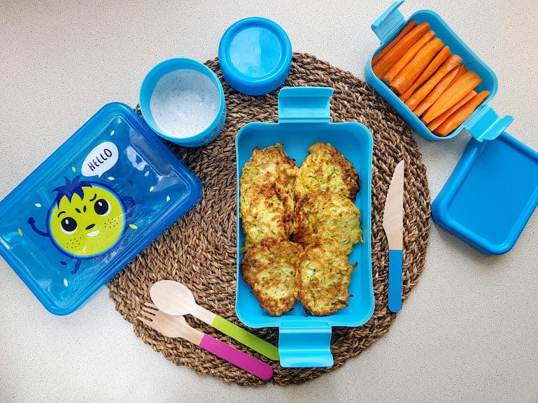 Placki z cukinii do lunchboxa