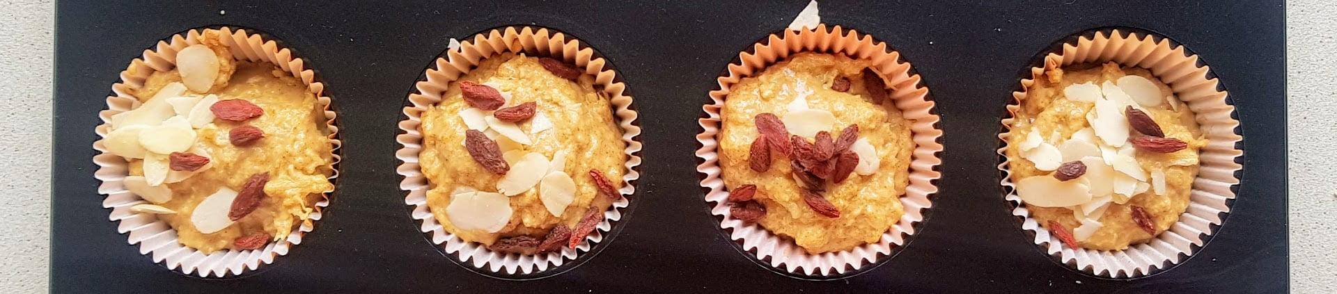 dyniowe babeczki bez cukru muffinki