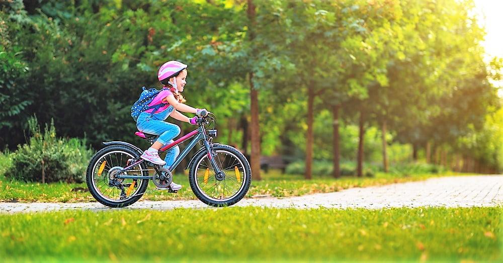 rower z dzieckiem