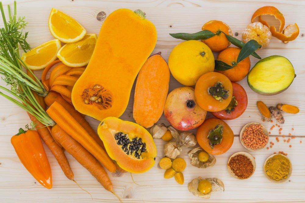 pomaranczowe jedzenie