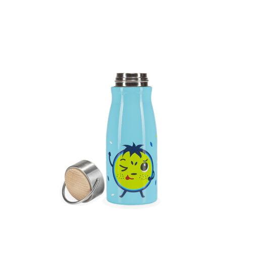 Niebieski bidon termiczny dla dzieci HELLO BILL! z nakretka