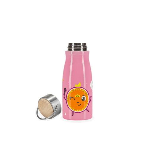 Rozowy bidon termiczny dla dzieci HELLO PENELOPE! z nakretka