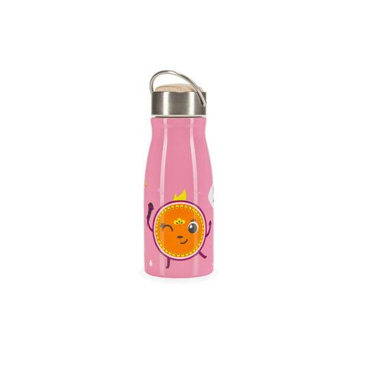 Rozowy bidon termiczny dla dzieci HELLO PENELOPE! z przodu
