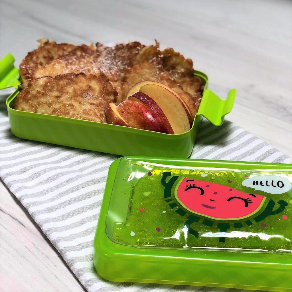 racuchy z jablkami bez drozdzy dla dzieci