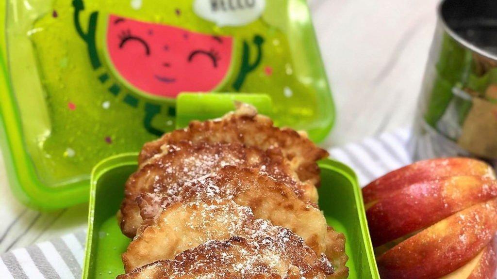 racuchy z jablkami bez drozdzy do lunch boxa